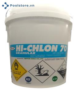 Hóa chất Clorin 70% Nippon 45kg dùng cho hồ bơi