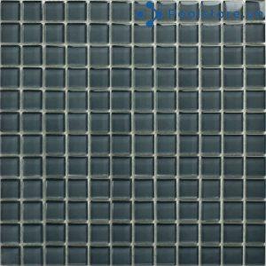 Gạch Mosaic Thủy Tinh Màu Xám Đen 4CB203
