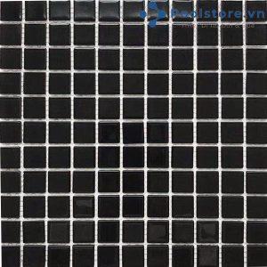 Gạch Mosaic Thủy Tinh Màu Đen 4CB207