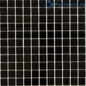 Gạch Mosaic Thủy Tinh Màu Đen 4CB209