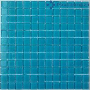 Gạch Mosaic Thủy Tinh Màu Xanh Lam 4CB303