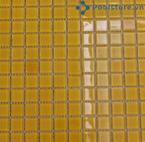 Gạch Mosaic Thủy Tinh Màu vàng Nâu 4CB803
