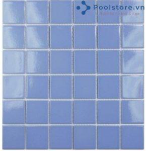 Gạch Mosaic Gốm Ceramic Đơn Màu 48TN311 Màu Xanh Lam