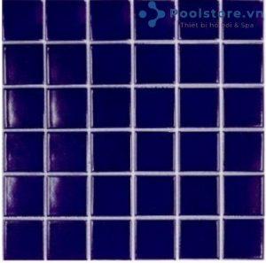 Gạch Mosaic Gốm Ceramic Đơn Màu 48TN317 Xanh Dương Đậm