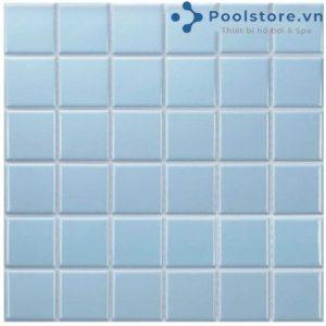 Gạch Mosaic Gốm Ceramic Đơn Màu 48TN330 Xanh Nhạt