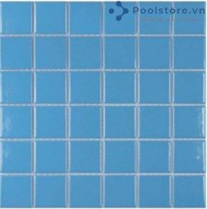 Gạch Mosaic Gốm Ceramic Đơn Màu 48TN344 Xanh Ngọc