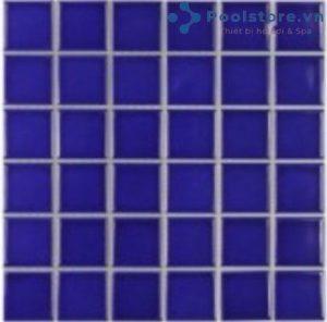 Gạch Mosaic Gốm Ceramic Đơn Màu 48TN345 Màu Xanh Bích
