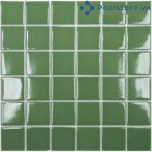 Gạch Mosaic Gốm Ceramic Đơn Màu 48TN404 Xanh Rêu