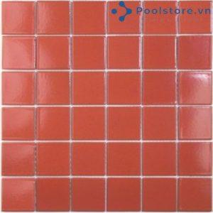 Gạch Mosaic Gốm Ceramic Đơn Màu 48TN901 Màu Đỏ Gạch