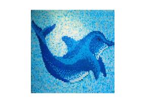 Gạch mosac hình cá heo MU-GMAO1