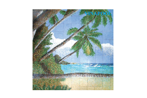 Gạch mosaic ghép hình cảnh biển MU-PD216