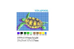 Gạch mosaic in hình rùa biển MU-PD229