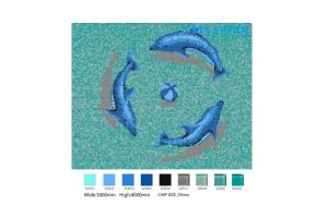 Tranh mosaic hình cá heo P03