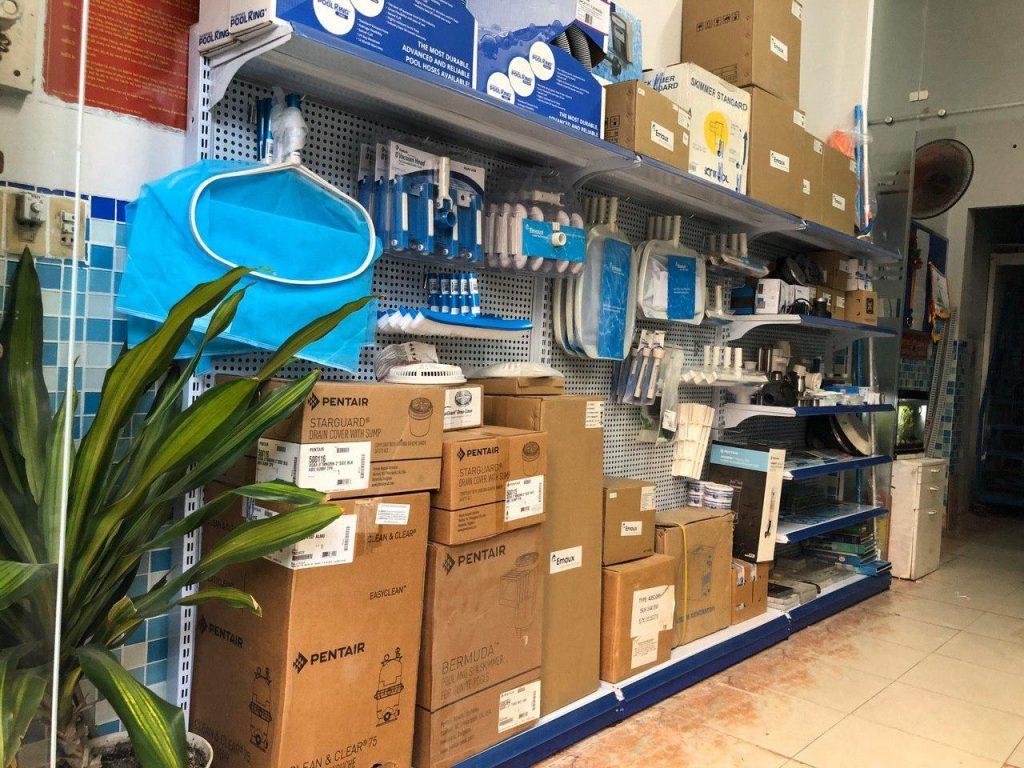 Cửa hàng bán thiết bị hồ bơi, Ảnh Poolstore.vn